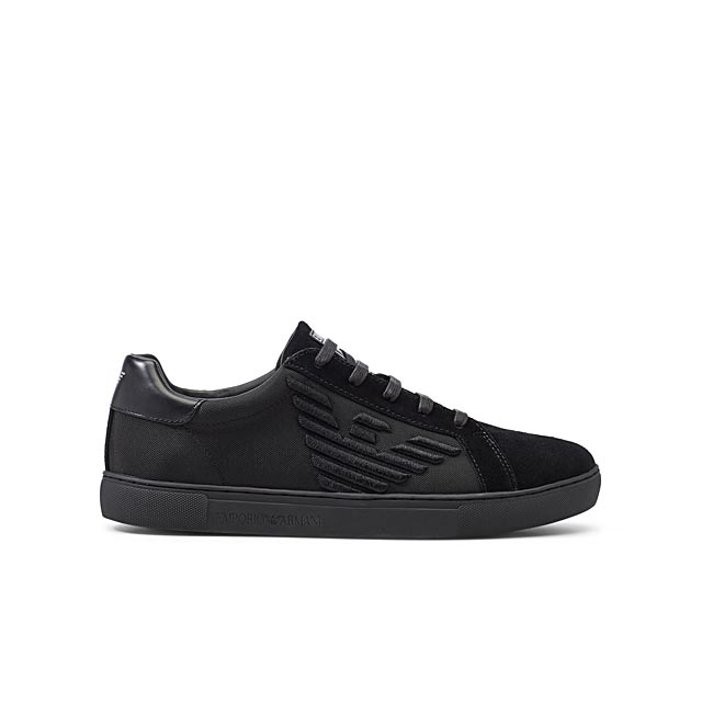 embroidered-logo-black-suede-sneakers