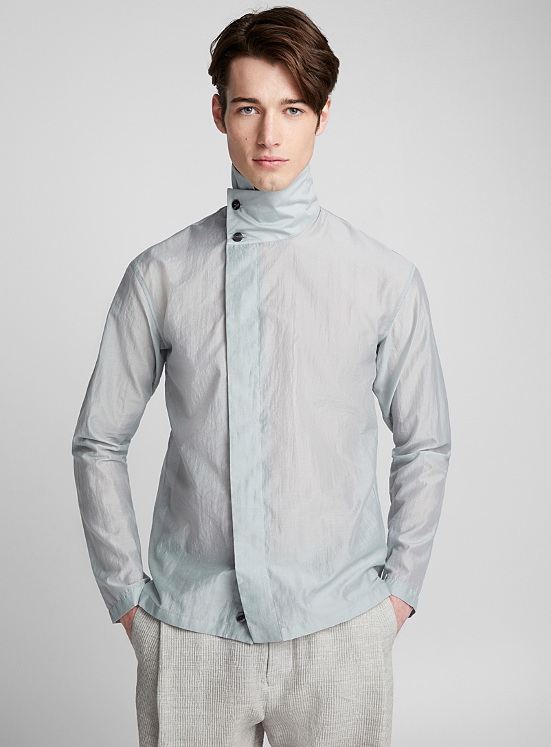 buttoned-high-neck-shirt