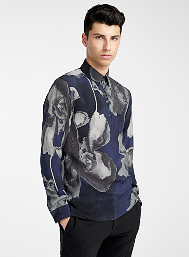 Painterly floral shirt