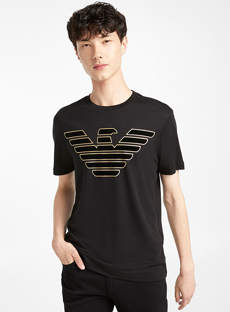 golden-flocked-logo-t-shirt