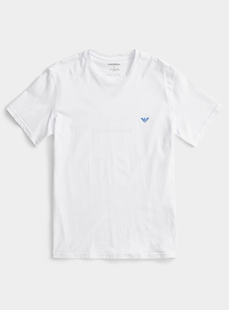 Emporio Armani White Lounge logo T-shirt for men