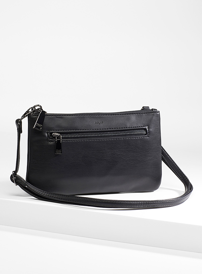 COLAB Black Monochrome wallet clutch for women
