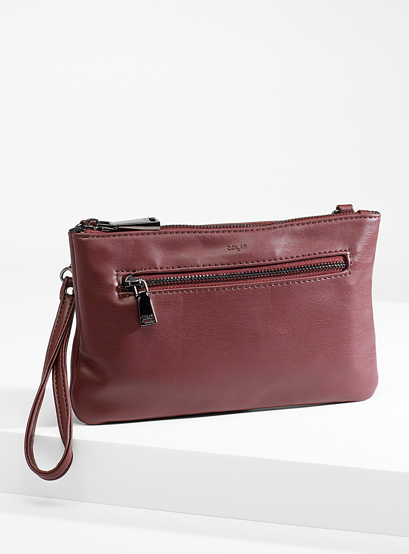 COLAB Ruby Red Monochrome wallet clutch for women
