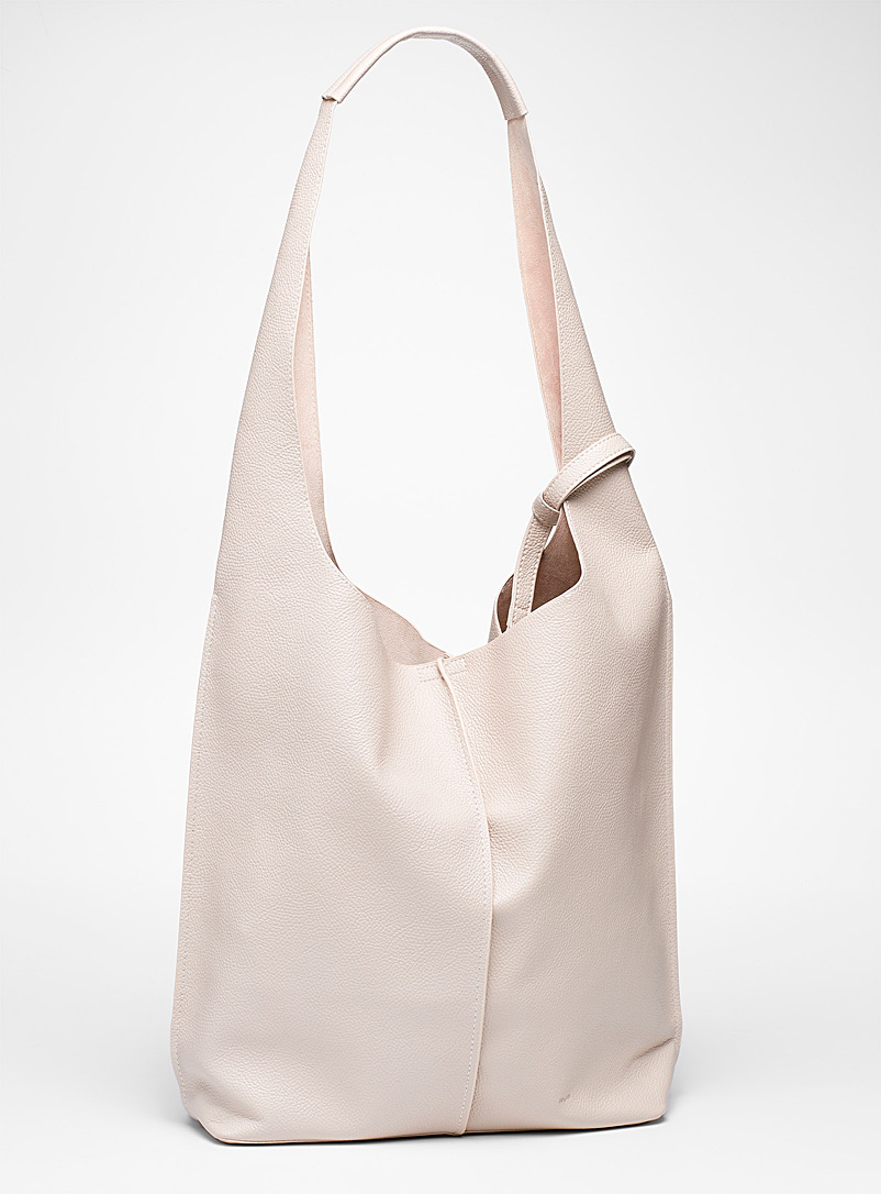 COLAB Light beige  Centre seam soft tote for women