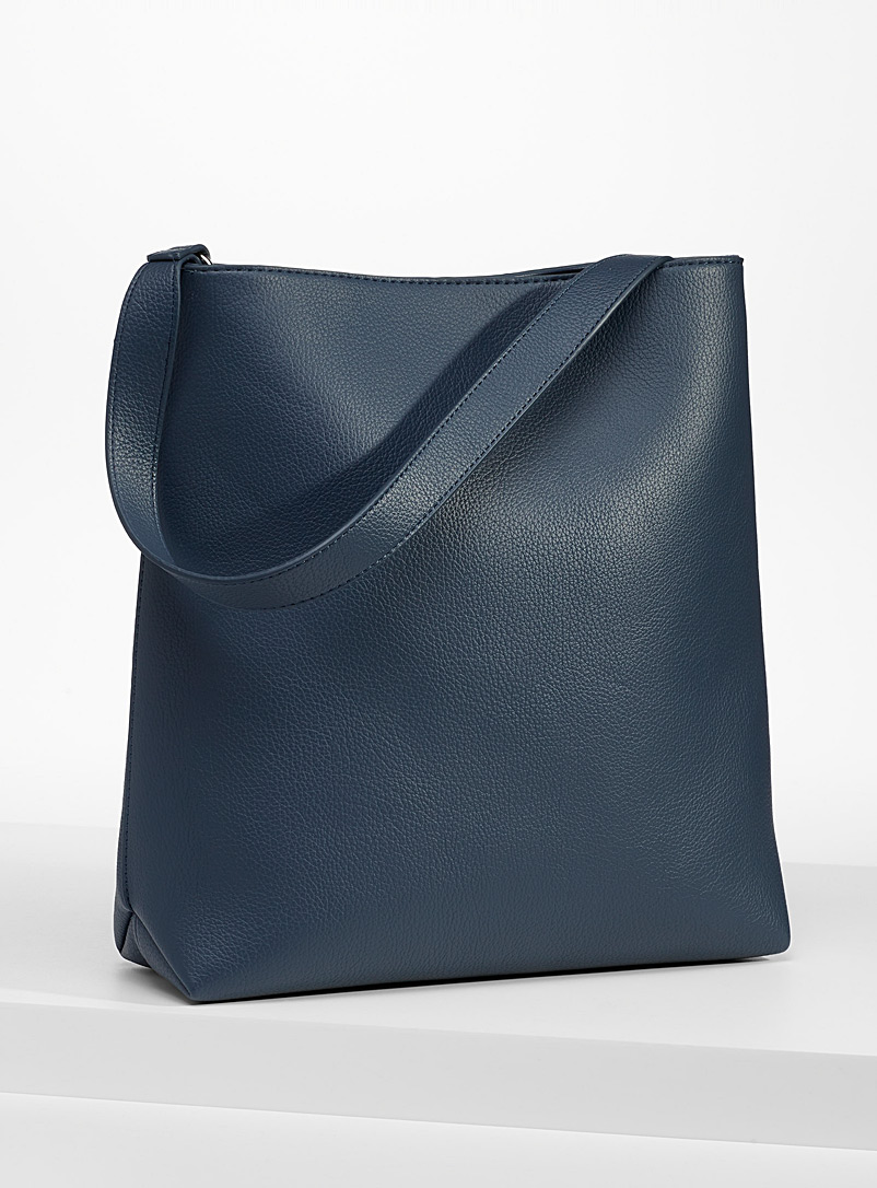 Simons Slate Blue Large recycled tote for women