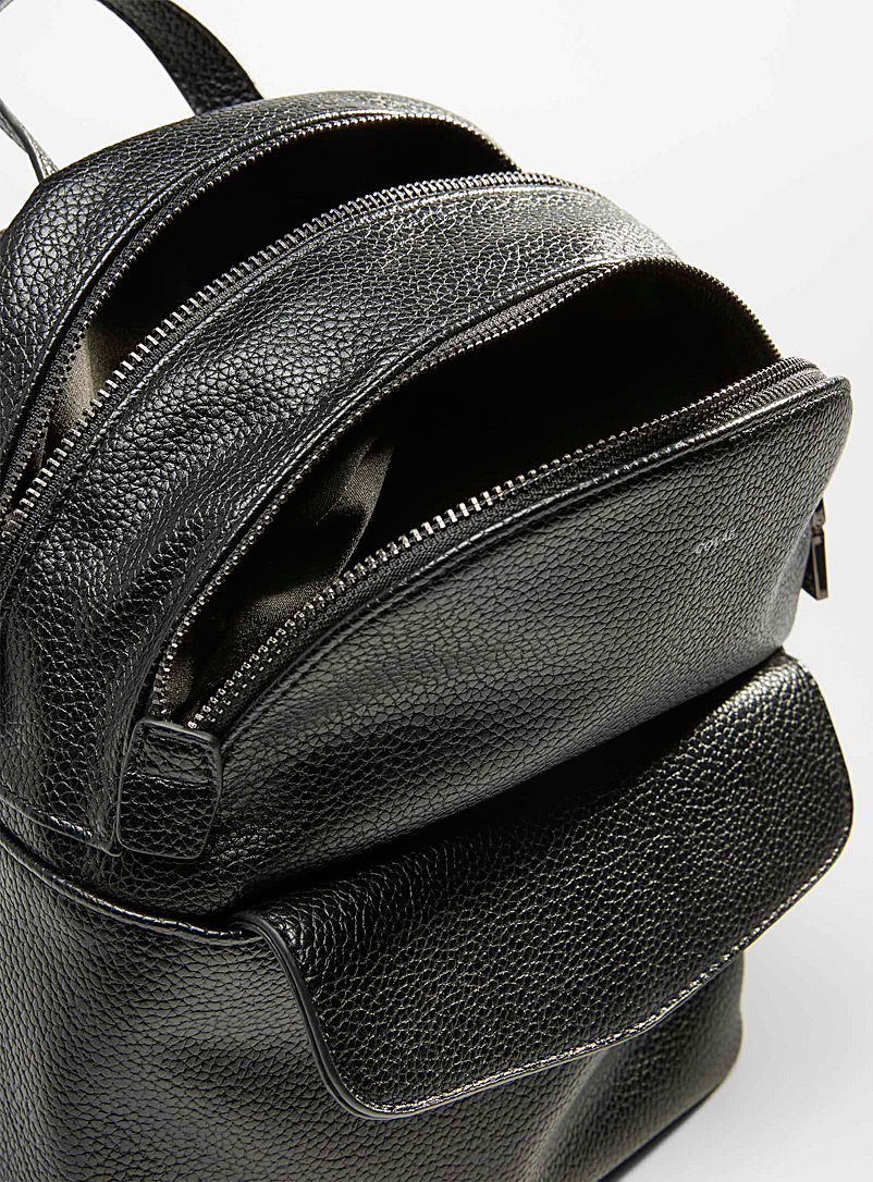 COLAB Black Small grained backpack for women