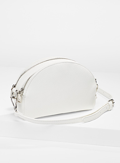 Half-moon crossbody clutch