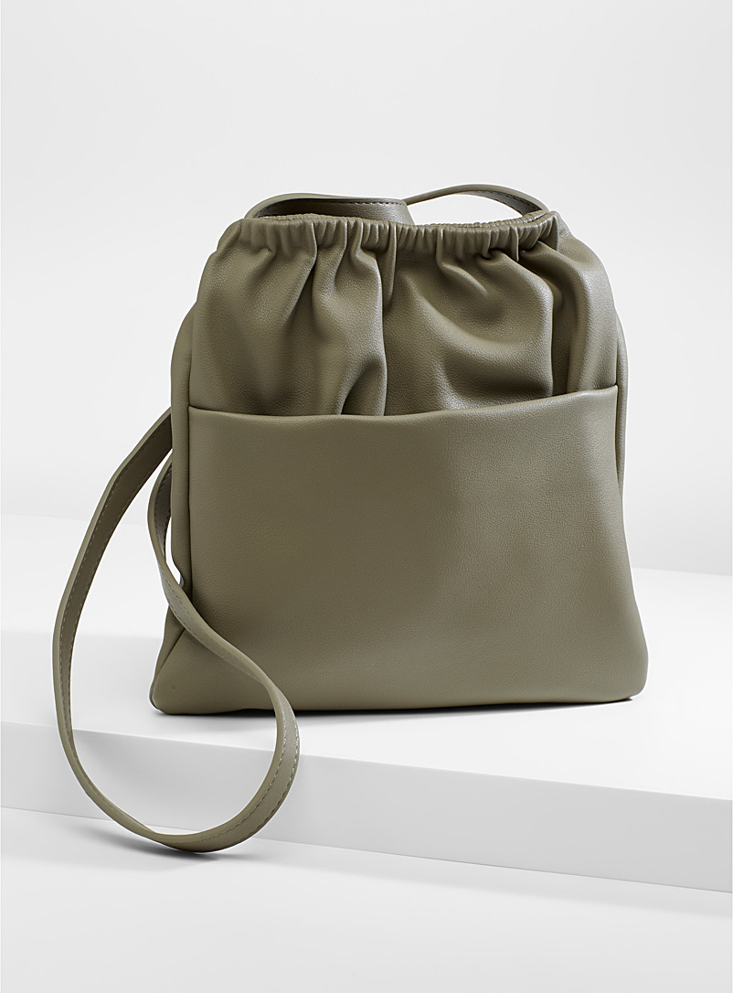 Simons Khaki Gathered shoulder bag for women