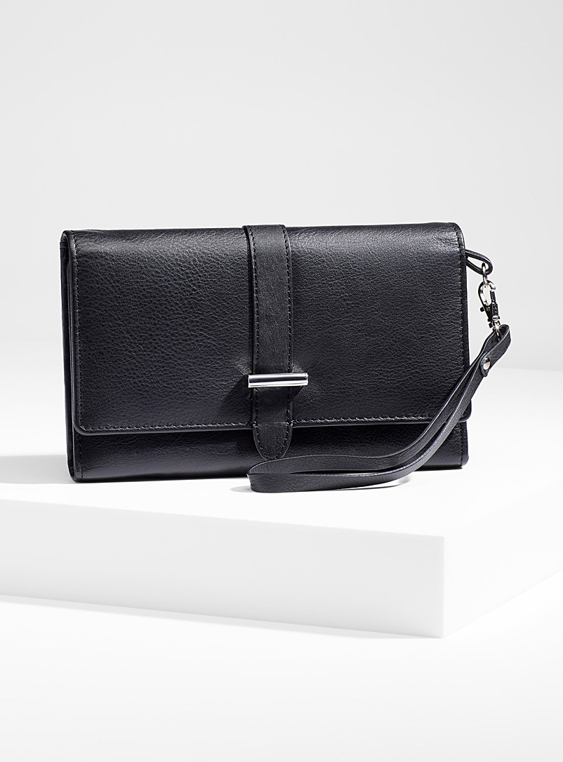 Three-fold wallet clutch