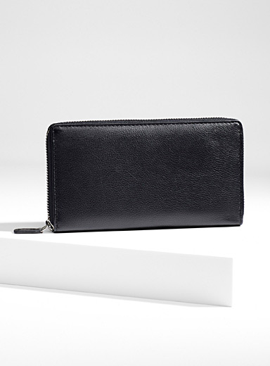 Christopher Kon Black Zip leather wallet for women
