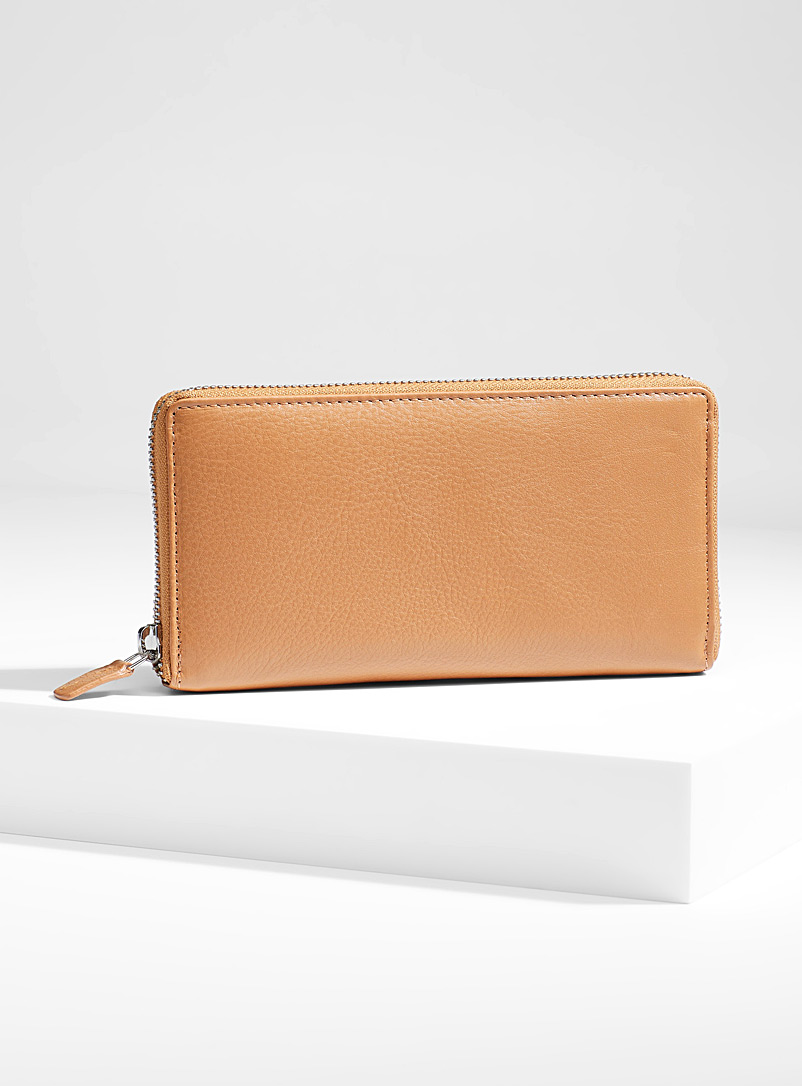 Simons Fawn Zip leather wallet for women