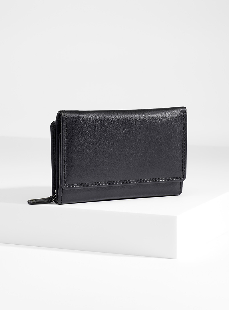 Christopher Kon Black Leather bi-fold wallet for women