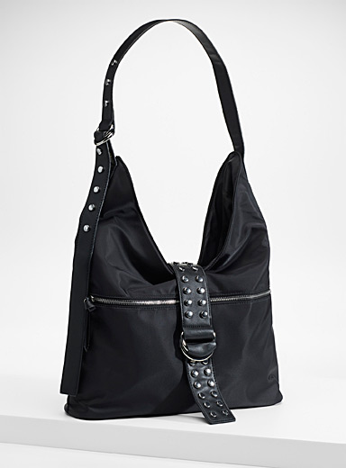 Punk nylon shoulder bag