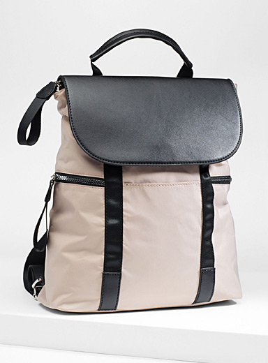 Utilitarian nylon backpack