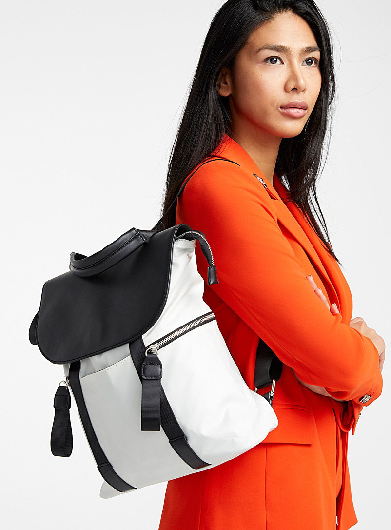Utilitarian nylon backpack - Backpacks - Silver