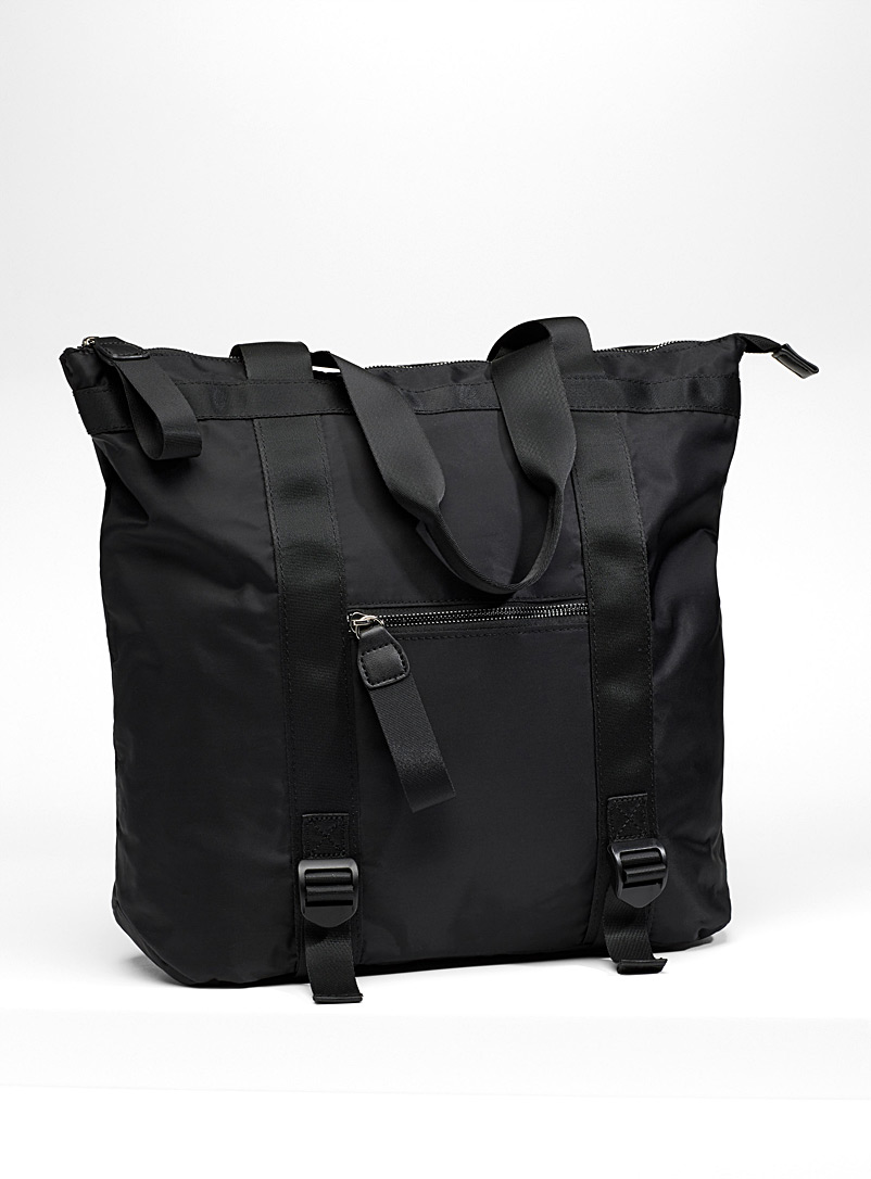 Nylon urban tote - Backpacks - Black