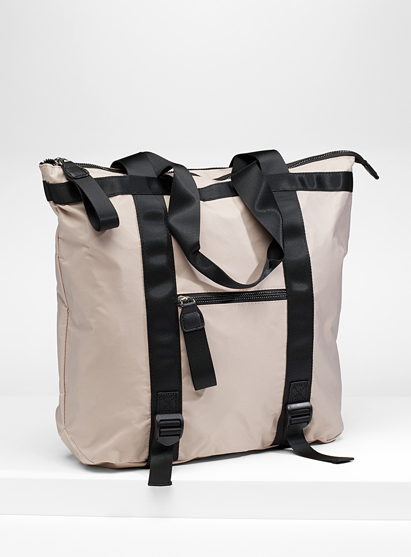 Nylon urban tote - Backpacks - Ivory White