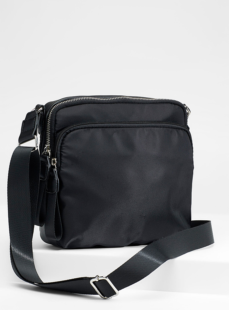 Utilitarian nylon shoulder bag