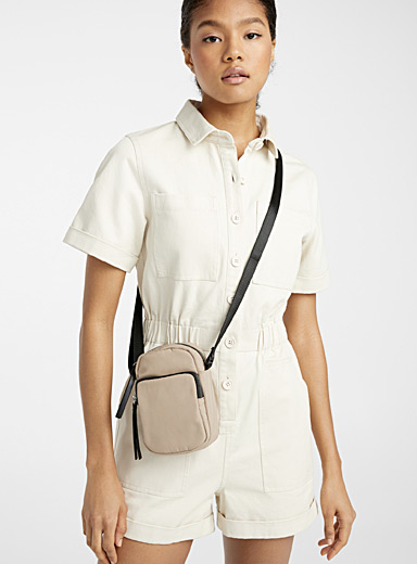 Utilitarian mini shoulder bag