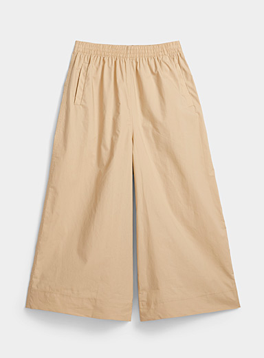 Minimum Sand Light poplin culottes for women