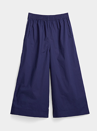 Light poplin culottes