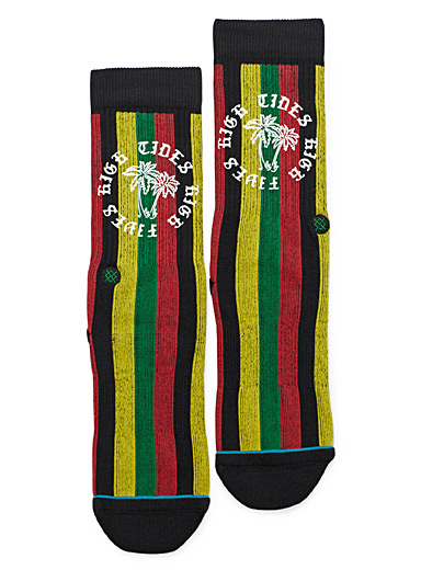Jamaican striped socks