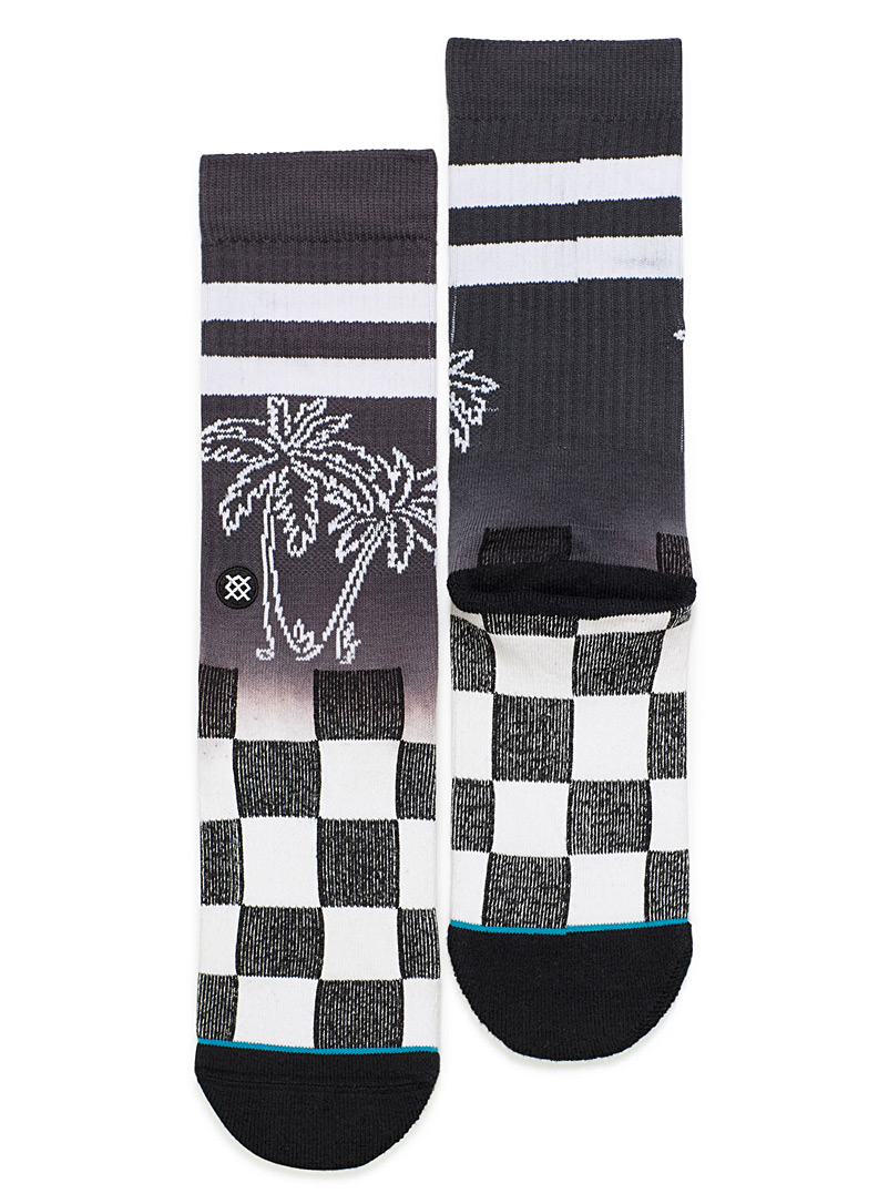 palm-tree-checkered-socks