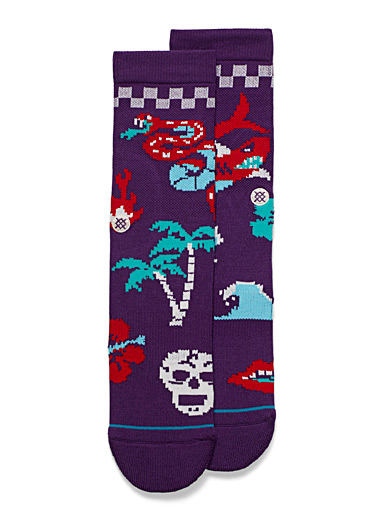 Digital tropics socks