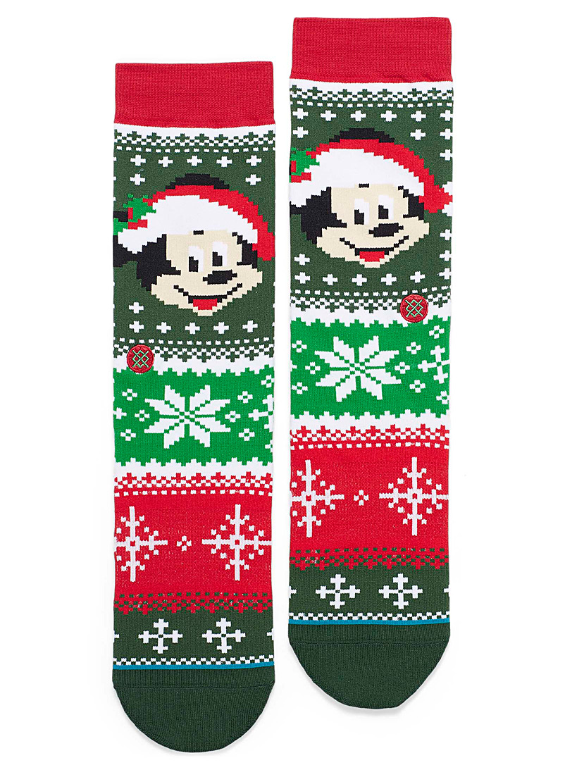 mickey-pixelated-jacquard-socks