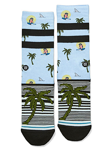 Hawaiian monkey socks
