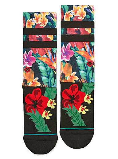 Tropical flora socks