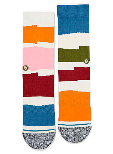 Irregular block socks