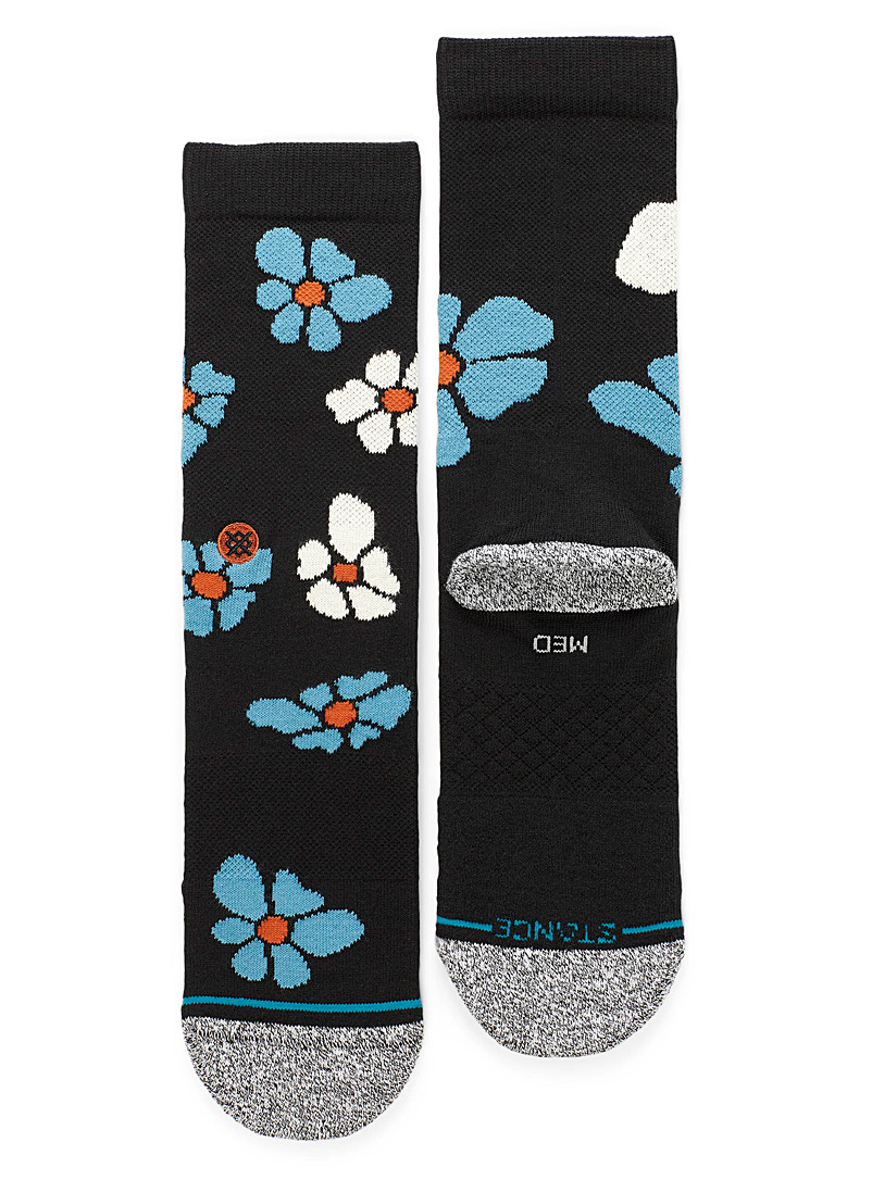 70's flower socks