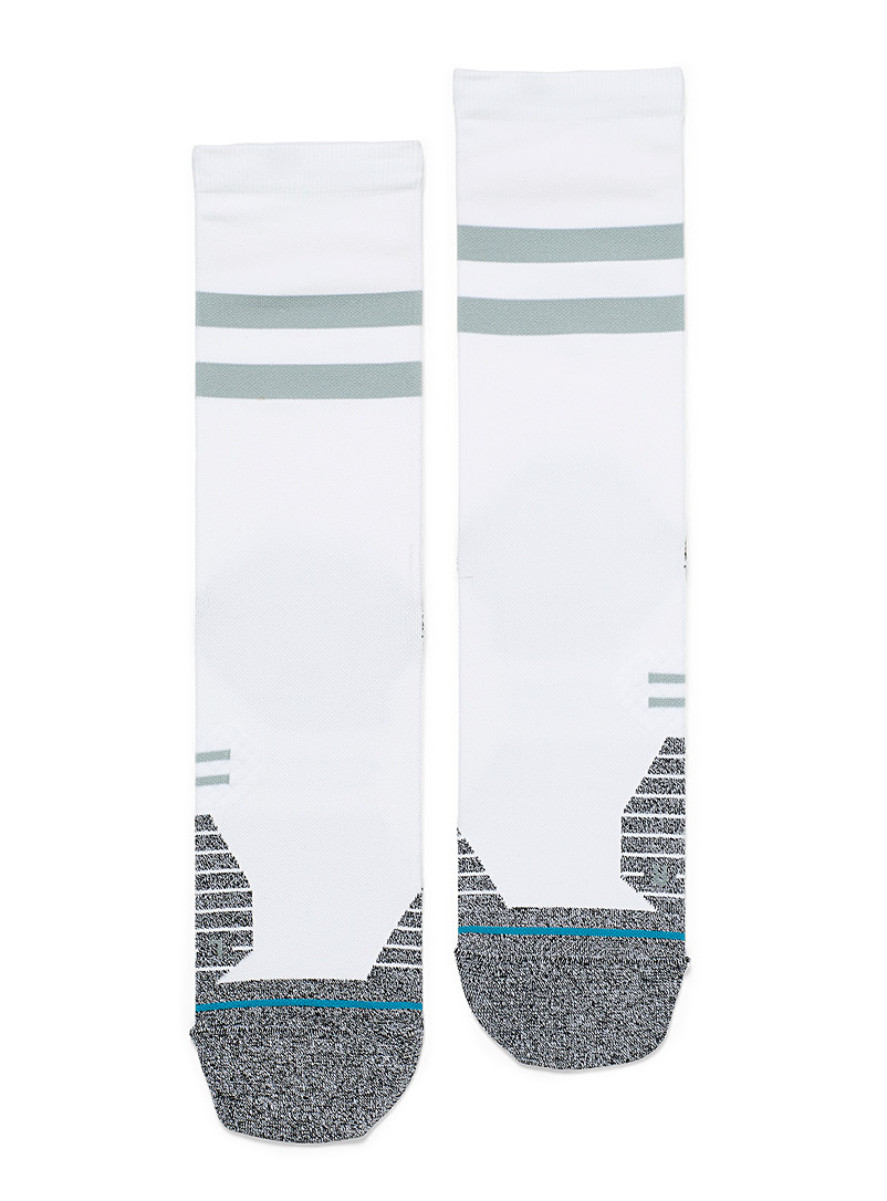 Stance White Sporty band running socks for men