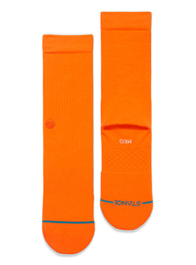 Vivid orange Icon crew socks