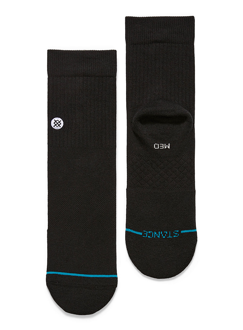 Stance Black Icon quarter socks for men