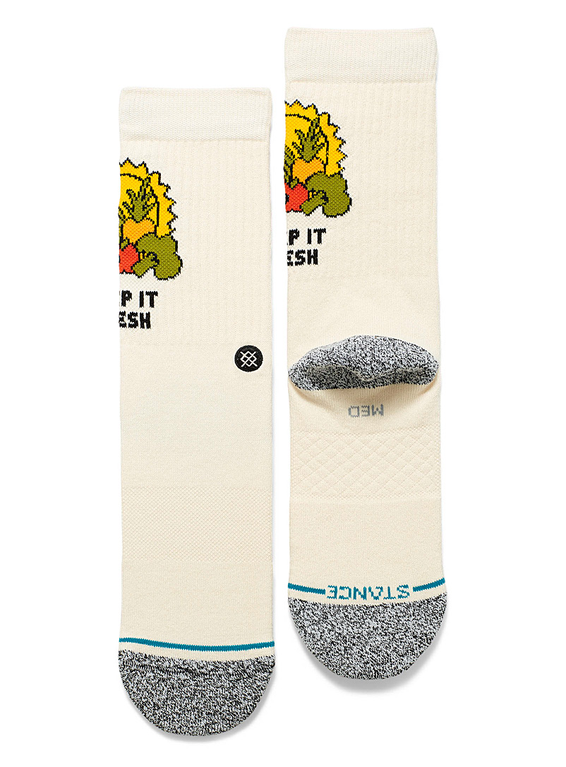 Stance Ivory White Keep It Fresh socks for women