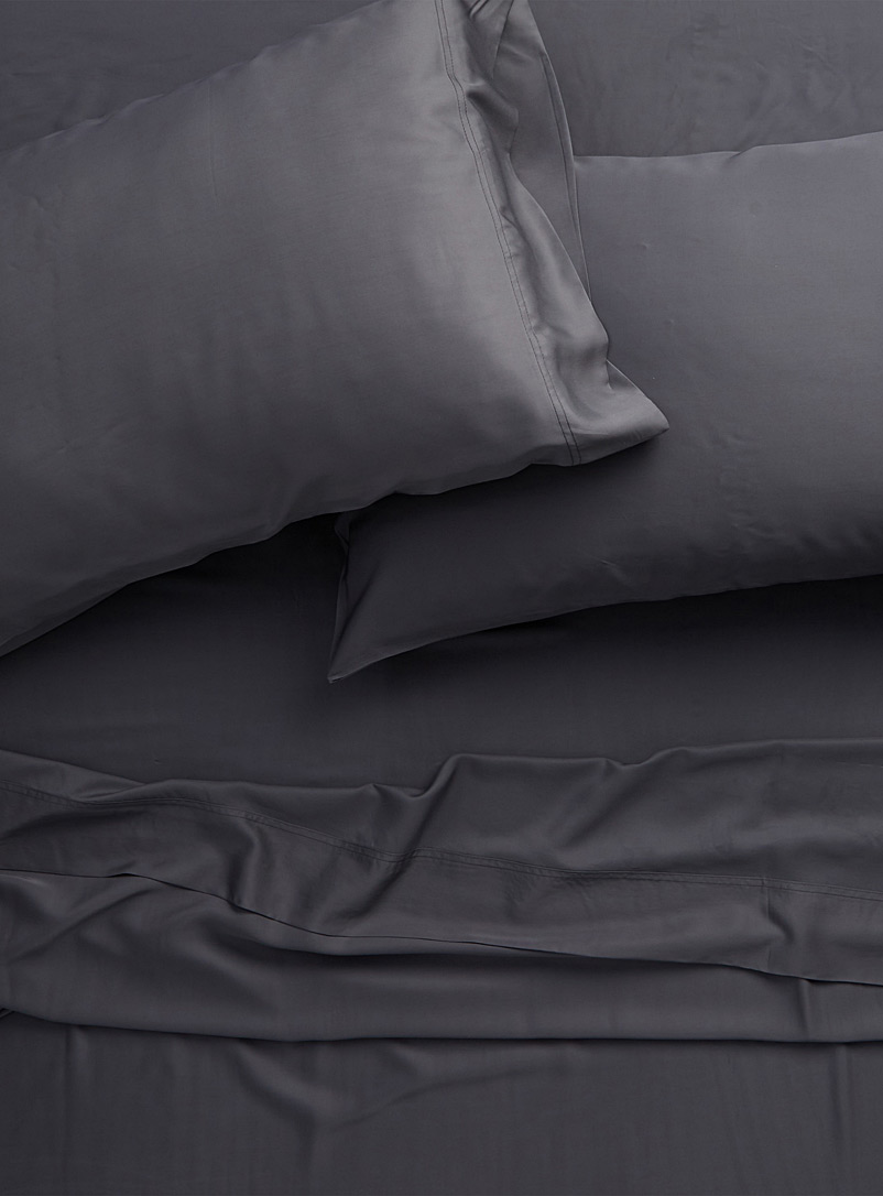 Bamboo rayon sheet set, 300 thread count  Fits mattresses up to 18 in. - A Touch of Bamboo - Charcoal