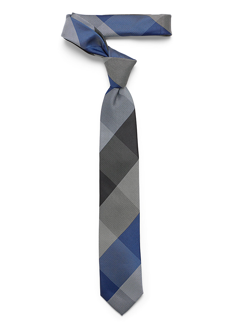 Chambray check tie