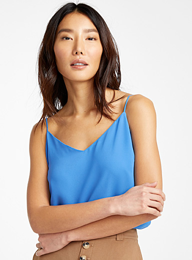 Recycled crepe thin-strap camisole