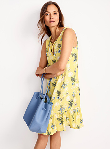 Ruffle-trim floral dress