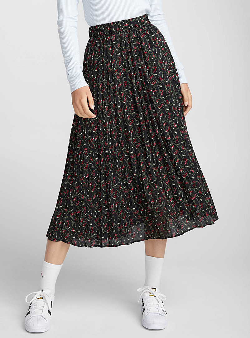 pleated-voile-midi-skirt