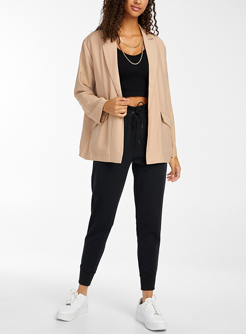 Twik Sand Loose soft twill blazer for women