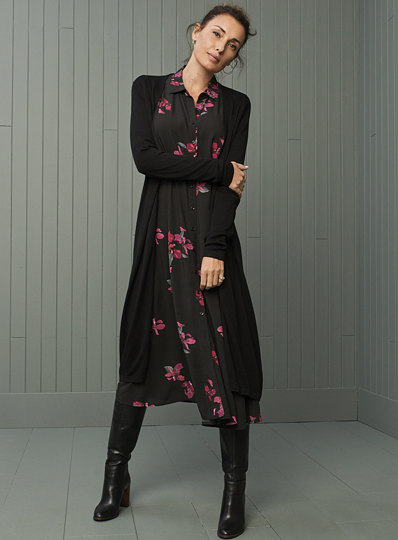 Fragrant floral shirtdress