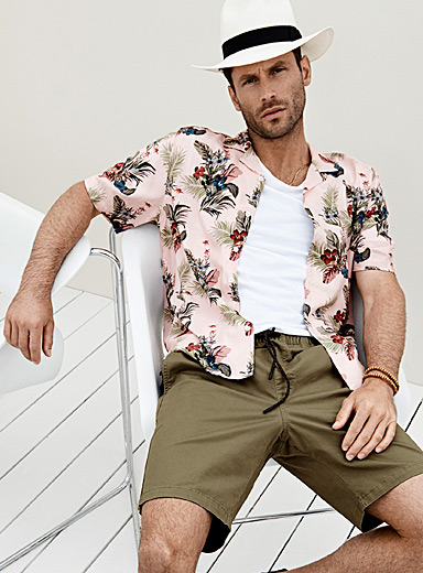 All-over print camp shirt Comfort fit
