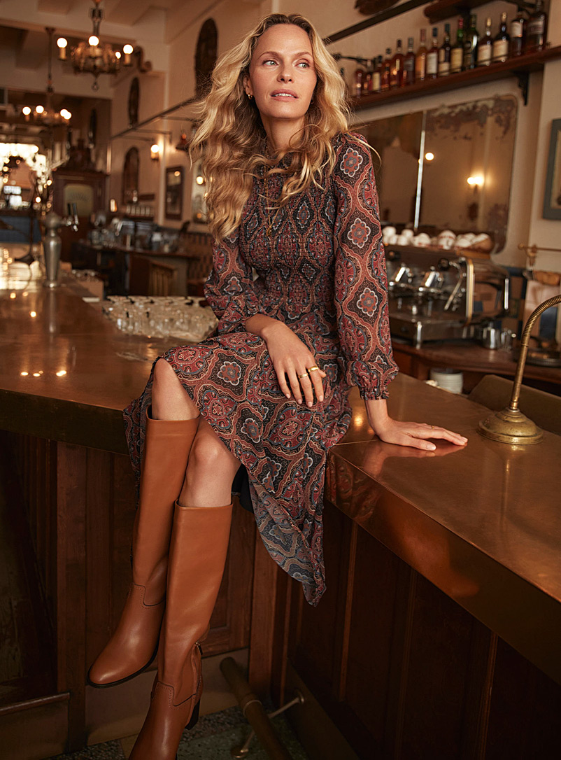 Contemporaine Assorted Luxurious smocked dress for women