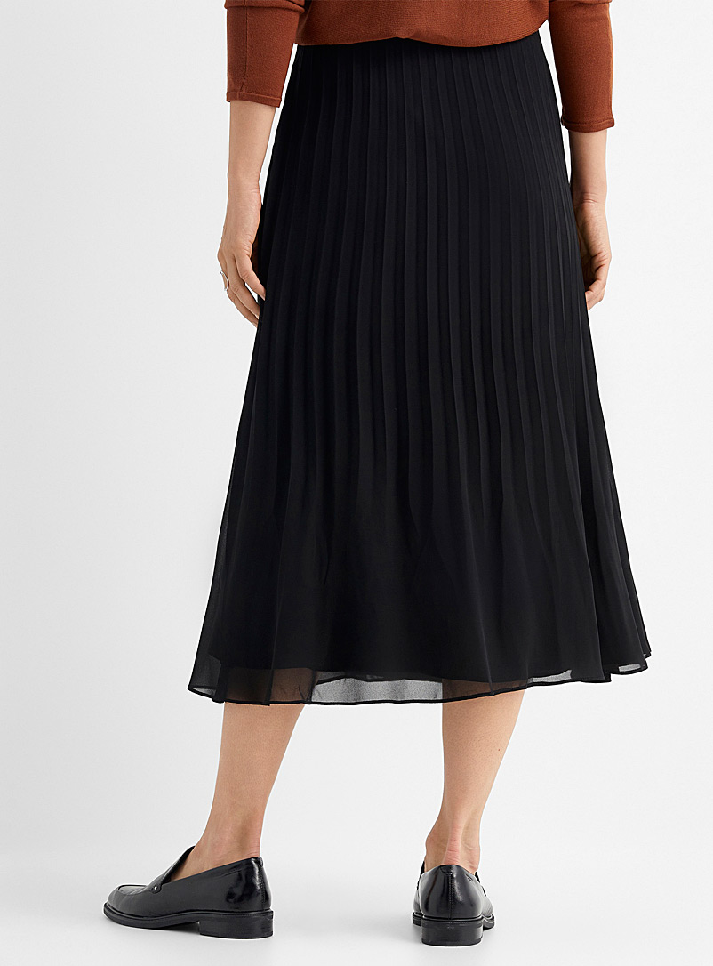 Contemporaine Assorted Pleated recycled chiffon skirt for women