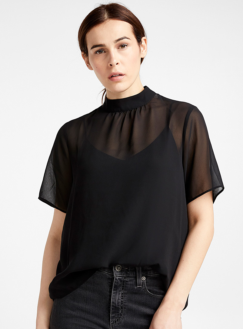 airy-mock-neck-blouse