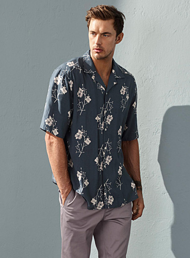 Tropical fluid shirt  Semi-tailored fit