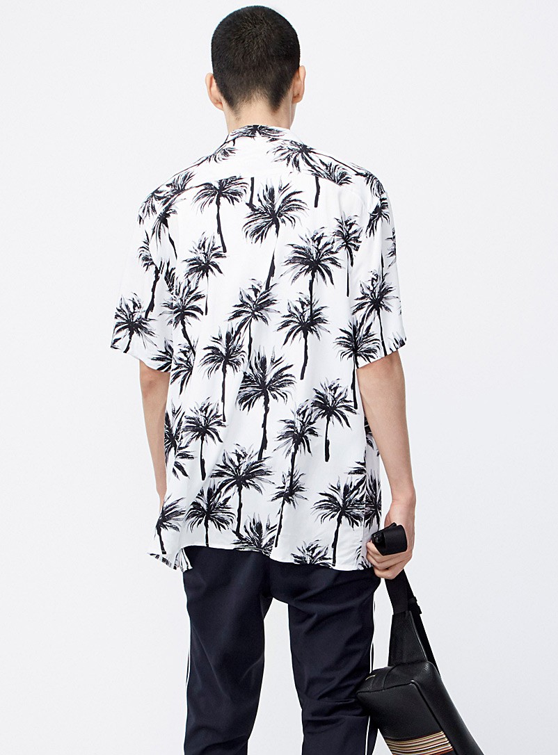 Fluid printed camp shirt - Patterns - Patterned White